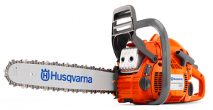 This Husqvarna 450 chainsaw is lightweight and is designed to be environmentally friendly