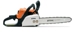 A light chainsaw, the Stihl MS 170 has many great design features that make it safe and efficient