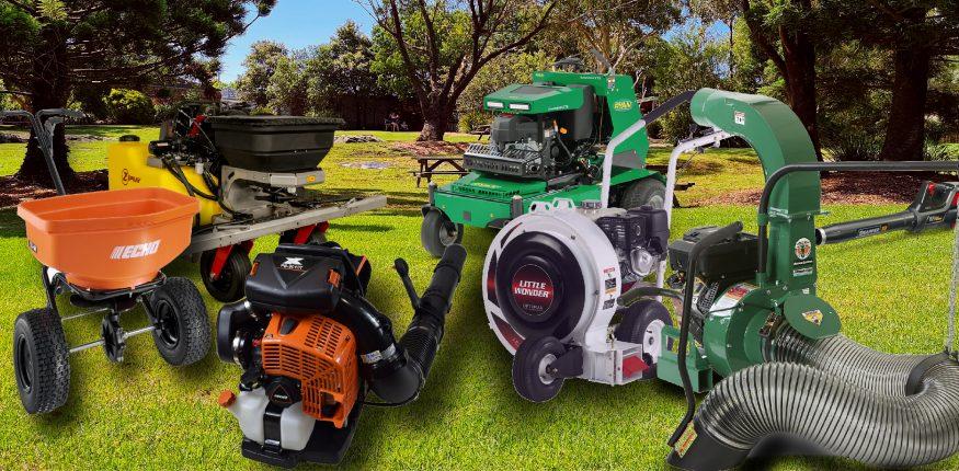 Fall Equipment including a blower, aerator, sprayer, spreader and Debris loader