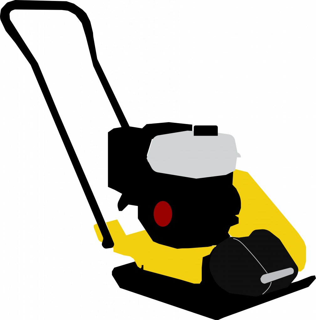 Illustration of a plate compactor