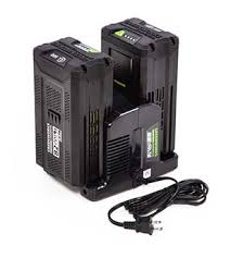 Greenworks Commercial batteries and charger.